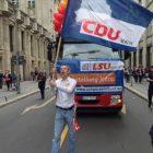 Ein CDU-Logo auf dem CSD ist wie eine Flagge der Atomindustrie auf einer Anti-AKW Demo